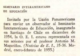 Mención Seminario Interamericano de Educación Secundaria.